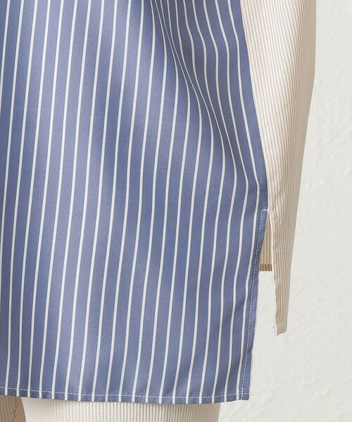 CAST: / キャスト コロン シャツ・ブラウス | ストライプパターンコンビシャツ | 詳細11