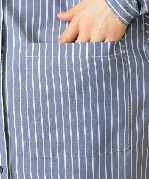 CAST: / キャスト コロン シャツ・ブラウス | ストライプパターンコンビシャツ | 詳細12