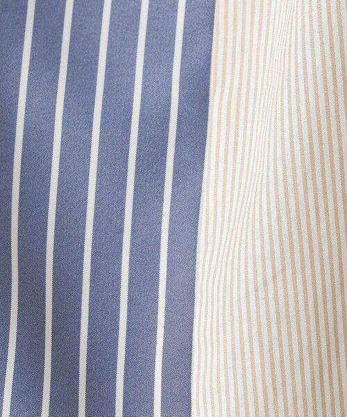 CAST: / キャスト コロン シャツ・ブラウス | ストライプパターンコンビシャツ | 詳細14