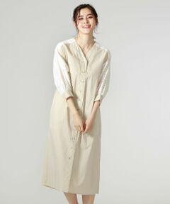 <br /><br />【Design/Styling】<br>今年トレンドのパフスリーブのシャツワンピース。<br>肩部分のチェックレースが爽やかかつ女性らしい大人フェミニンな印象に。<br>ワンピースですが、フロントは開ける事が出来るので、ライトなシャツ羽織りとしても活躍でき、これからの時期の冷房対策や少し肌寒い時に持っておきたいアイテムです。<br><br>【Fabric】<br>レース部分はコードレスで、MADE IN JAPAN素材を使用しています。<br>手洗い可なところも嬉しいポイント。<br><br /><br /><br><br>※この商品はサンプルでの撮影を行っています。<br>実際の商品とイメージ、サイズ、品質表示、原産国等が異なる場合がございます。<br /><br /><br><br>※店頭及び屋外での撮影画像は、光の当たり具合で色味が違って見える場合があります。商品の色味は、スタジオ撮影の画像をご参照ください。<br /><br /><br>モデル:H172 B75 W60 H83 着用サイズ:M