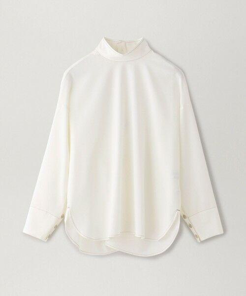CAST: / キャスト コロン シャツ・ブラウス   バックボタンシャツ(ホワイト)