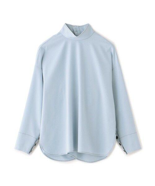 CAST: / キャスト コロン シャツ・ブラウス   バックボタンシャツ(水色)