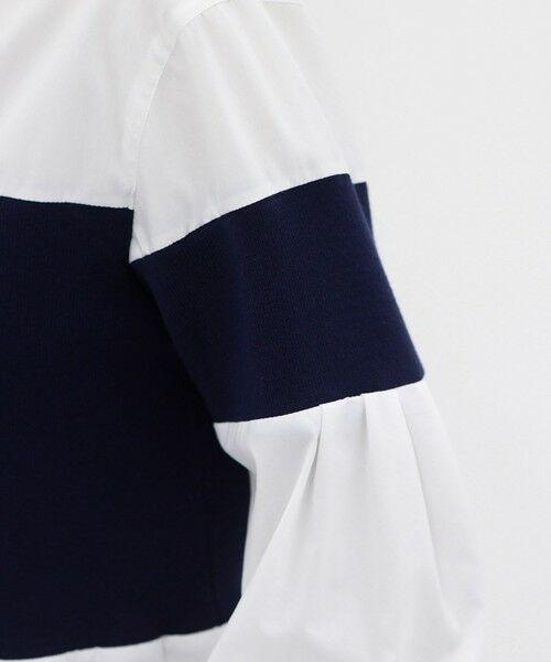 CAST: / キャスト コロン シャツ・ブラウス | ニットコンビチュニックシャツ | 詳細10