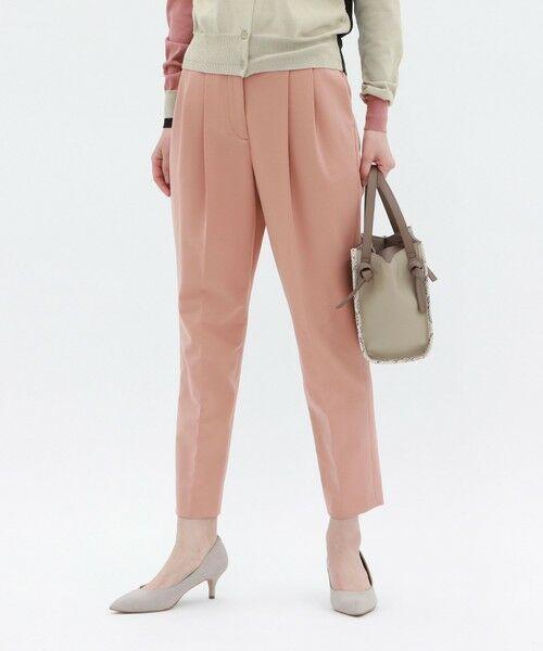 CAST: / キャスト コロン パンツ   マイパーフェクト ツイルジャージー万能テーパードパンツ(ピンク)
