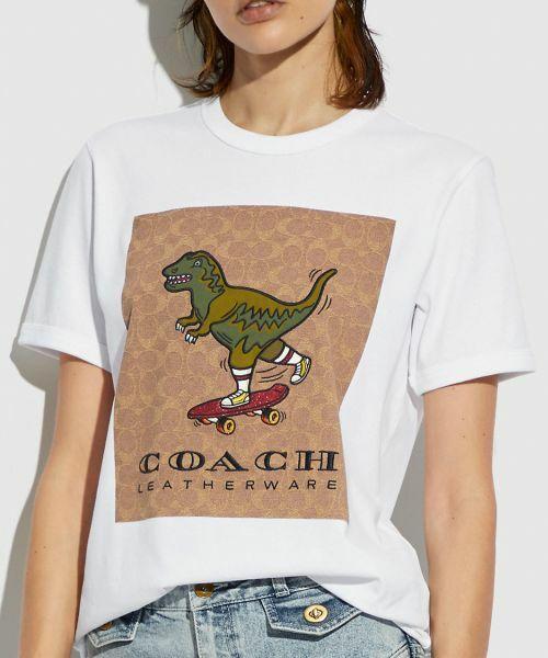 COACH / コーチ Tシャツ | 【日本限定】シグネチャー スケートボード レキシー Tシャツ(WHITE)