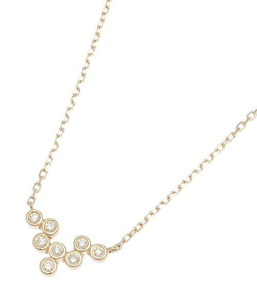 COCOSHNIK/ココシュニック ダイヤモンド ベゼルセット Vネックレス イエローゴールド(104) 40