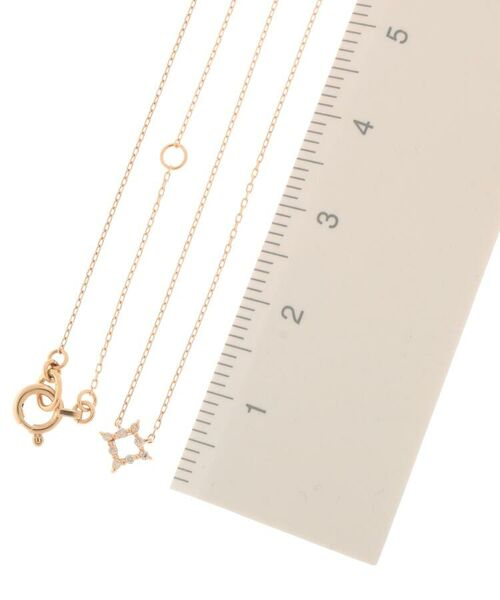 COCOSHNIK / ココシュニック ネックレス・ペンダント・チョーカー | ダイヤモンド 伏せ込み ひし形 ネックレス(小) | 詳細2