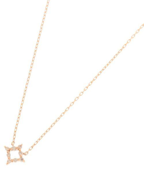 COCOSHNIK / ココシュニック ネックレス・ペンダント・チョーカー | ダイヤモンド 伏せ込み ひし形 ネックレス(小)(イエローゴールド(104))