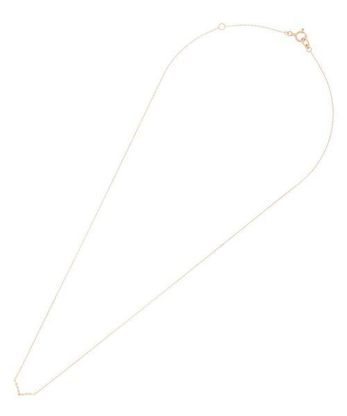 COCOSHNIK / ココシュニック ネックレス・ペンダント・チョーカー | ダイヤモンド 伏せ込み V字 ネックレス | 詳細1