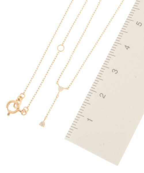 COCOSHNIK / ココシュニック ネックレス・ペンダント・チョーカー | ダイヤモンド 3つ爪 Y字 ネックレス | 詳細2