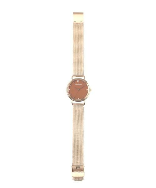 COCOSHNIK / ココシュニック 腕時計 | RGラウンドメッシュベルト ウォッチ(ブラウン) | 詳細4
