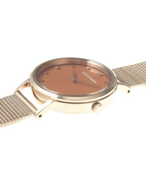 COCOSHNIK / ココシュニック 腕時計 | RGラウンドメッシュベルト ウォッチ(ブラウン) | 詳細5