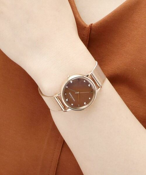 COCOSHNIK / ココシュニック 腕時計 | RGラウンドメッシュベルト ウォッチ(ブラウン) | 詳細8