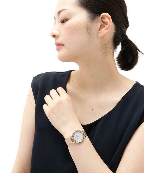 COCOSHNIK / ココシュニック 腕時計   RGラウンドメッシュベルト ウォッチ(白蝶貝)   詳細10
