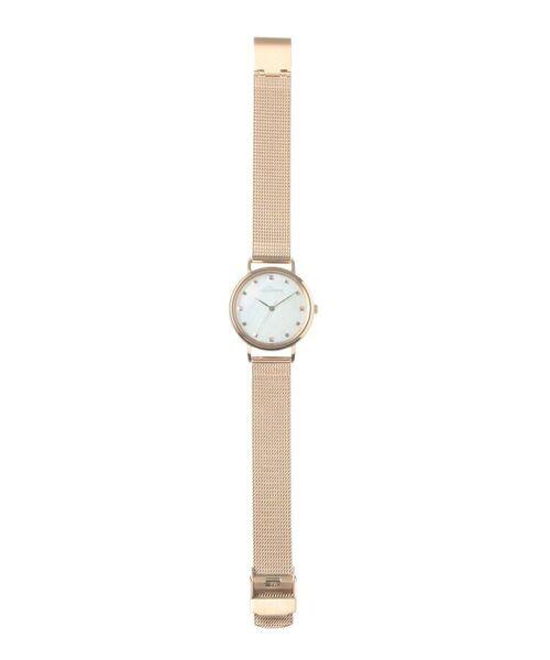 COCOSHNIK / ココシュニック 腕時計 | RGラウンドメッシュベルト ウォッチ(白蝶貝) | 詳細5
