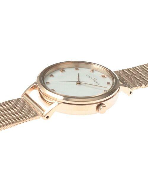 COCOSHNIK / ココシュニック 腕時計   RGラウンドメッシュベルト ウォッチ(白蝶貝)   詳細6