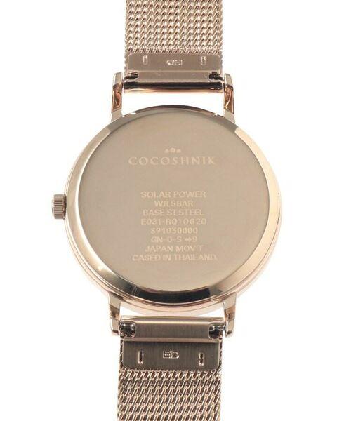 COCOSHNIK / ココシュニック 腕時計   RGラウンドメッシュベルト ウォッチ(白蝶貝)   詳細7