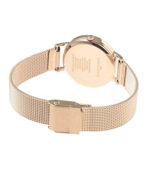 COCOSHNIK / ココシュニック 腕時計   RGラウンドメッシュベルト ウォッチ(白蝶貝)   詳細8