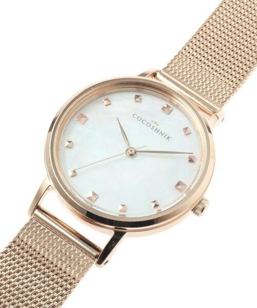 COCOSHNIK / ココシュニック 腕時計   RGラウンドメッシュベルト ウォッチ(白蝶貝)   詳細9