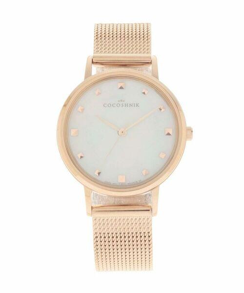COCOSHNIK / ココシュニック 腕時計   RGラウンドメッシュベルト ウォッチ(白蝶貝)(ホワイト(100))