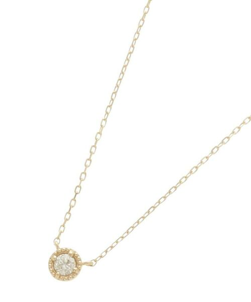 COCOSHNIK / ココシュニック ネックレス・ペンダント・チョーカー | ダイヤモンド フチミル ネックレス(イエローゴールド(104))