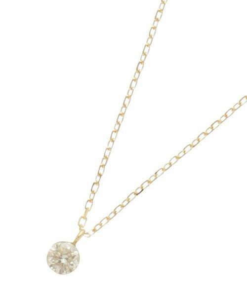 COCOSHNIK / ココシュニック ネックレス・ペンダント・チョーカー   K18ダイヤモンド シークレット留め スルーネックレス(イエローゴールド(104))