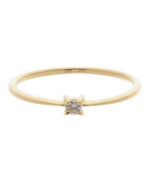 COCOSHNIK / ココシュニック リング | K18ダイヤモンド 4本爪 リング(小) | 詳細1