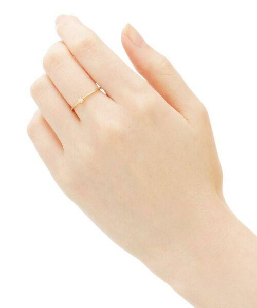 COCOSHNIK / ココシュニック リング | K18ダイヤモンド 4本爪 リング(小) | 詳細4