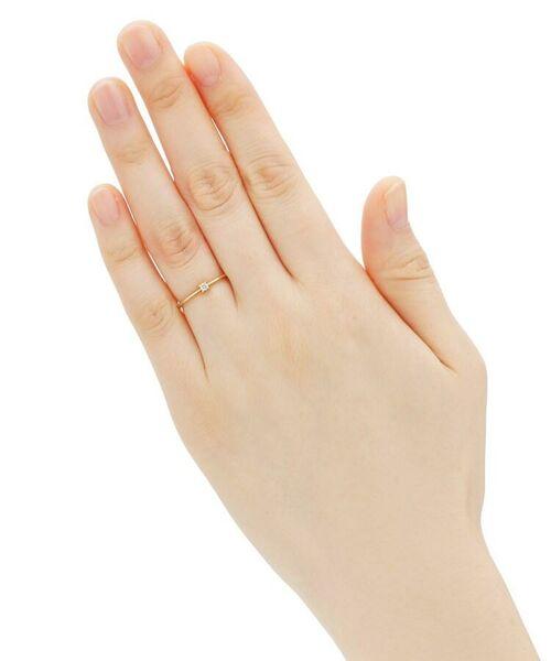 COCOSHNIK / ココシュニック リング | K18ダイヤモンド 4本爪 リング(小) | 詳細5