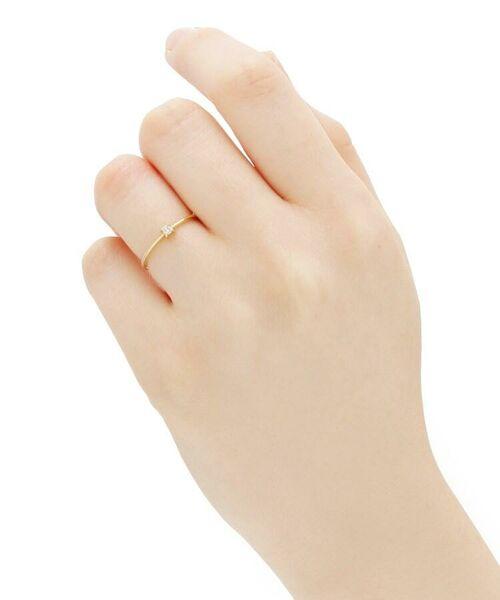 COCOSHNIK / ココシュニック リング | K18ダイヤモンド 4本爪 リング(小) | 詳細6