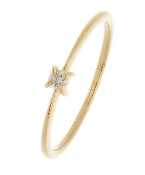 COCOSHNIK / ココシュニック リング | K18ダイヤモンド 4本爪 リング(小)(イエローゴールド(104))