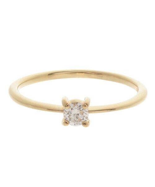 COCOSHNIK / ココシュニック リング | K18ダイヤモンド 4本爪 リング(大) | 詳細1
