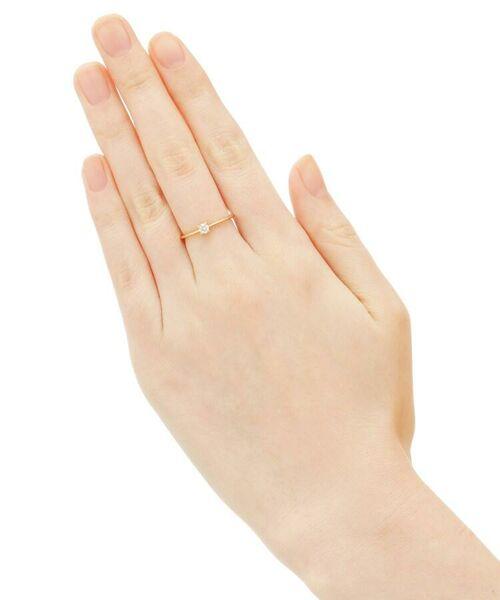 COCOSHNIK / ココシュニック リング | K18ダイヤモンド 4本爪 リング(大) | 詳細2