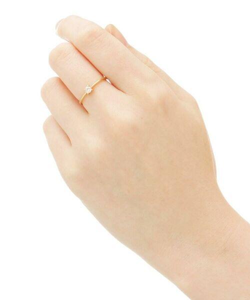 COCOSHNIK / ココシュニック リング | K18ダイヤモンド 4本爪 リング(大) | 詳細3