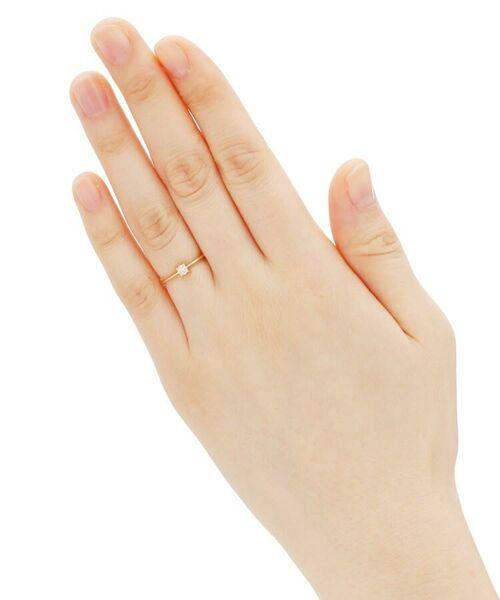 COCOSHNIK / ココシュニック リング | K18ダイヤモンド 4本爪 リング(大) | 詳細4