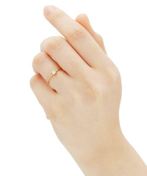 COCOSHNIK / ココシュニック リング | K18ダイヤモンド 4本爪 リング(大) | 詳細5