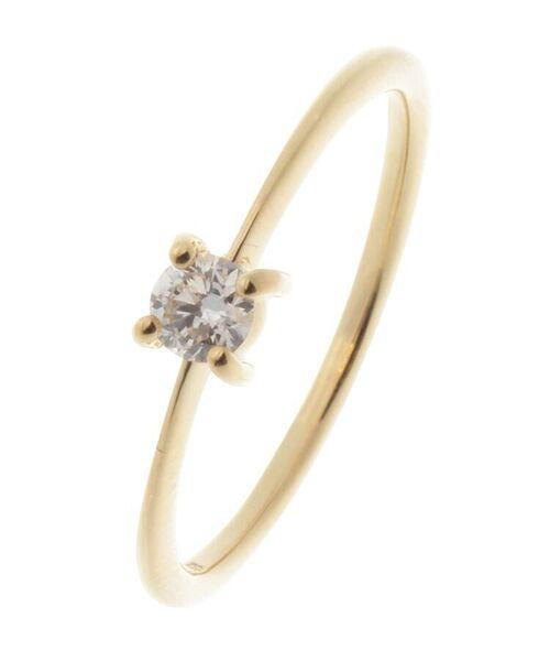 COCOSHNIK / ココシュニック リング | K18ダイヤモンド 4本爪 リング(大)(イエローゴールド(104))
