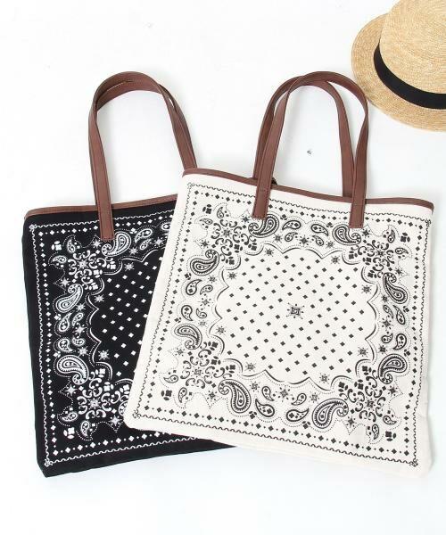 coen / コーエン トートバッグ | 【WEB限定】【Market】バンダナパターントートバッグ(OFF WHITE)