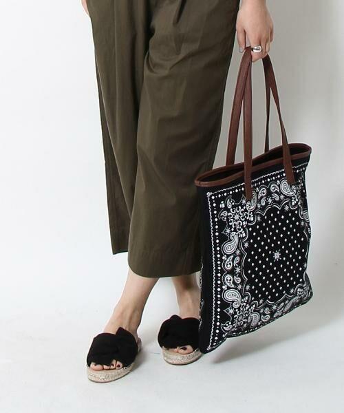 coen / コーエン トートバッグ | 【WEB限定】【Market】バンダナパターントートバッグ(BLACK)