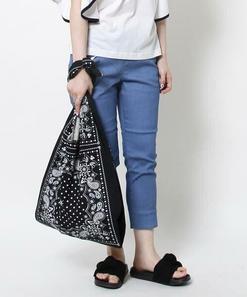 coen / コーエン ショルダーバッグ | 【WEB限定】【Market】バンダナパターンショルダーバッグ(BLACK)