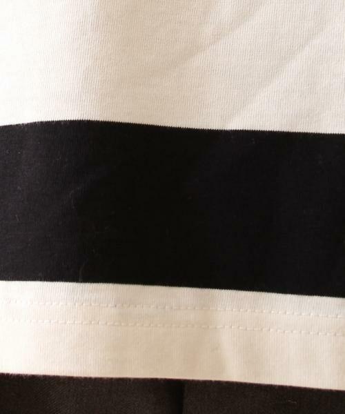 coen / コーエン カットソー | 【新色:ベージュ/ネイビー登場・大人気・復刻】ワイドボーダーボートネックカットソー(ブラック、ライトブルー⇒WEB限定カラー | 詳細6