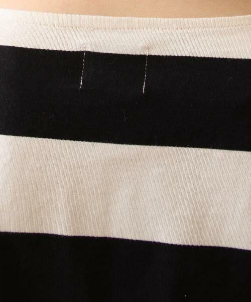 coen / コーエン カットソー | 【新色:ベージュ/ネイビー登場・大人気・復刻】ワイドボーダーボートネックカットソー(ブラック、ライトブルー⇒WEB限定カラー | 詳細8