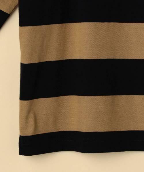 coen / コーエン カットソー | 【新色:ベージュ/ネイビー登場・大人気・復刻】ワイドボーダーボートネックカットソー(ブラック、ライトブルー⇒WEB限定カラー | 詳細19