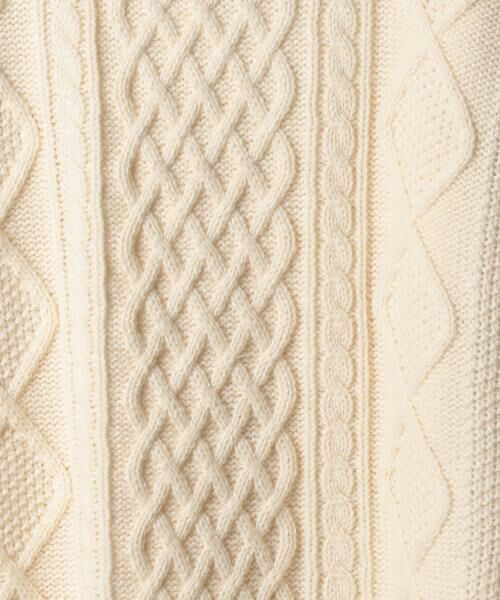 coen / コーエン ニット・セーター | オーバーサイズケーブルニット(キャメル / ワイン / オリーブ ⇒ WEB限定カラー) | 詳細2