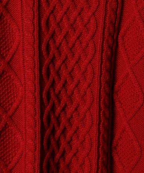 coen / コーエン ニット・セーター | オーバーサイズケーブルニット(キャメル / ワイン / オリーブ ⇒ WEB限定カラー) | 詳細6