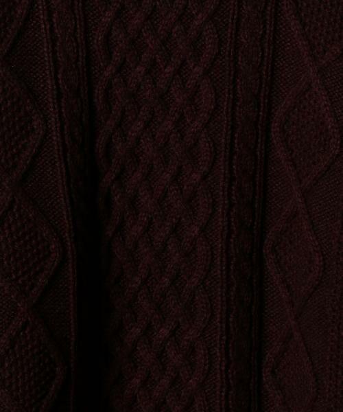coen / コーエン ニット・セーター | オーバーサイズケーブルニット(キャメル / ワイン / オリーブ ⇒ WEB限定カラー) | 詳細10
