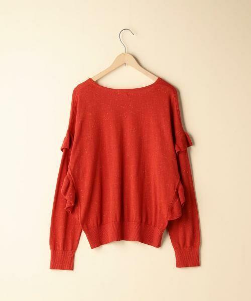 coen / コーエン ニット・セーター | カラーネップ袖フリルニット | 詳細1