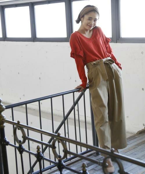coen / コーエン ニット・セーター | カラーネップ袖フリルニット | 詳細10