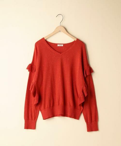 coen / コーエン ニット・セーター | カラーネップ袖フリルニット | 詳細6