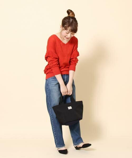 coen / コーエン ニット・セーター | カラーネップ袖フリルニット | 詳細7
